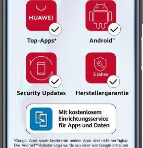 Huawei Smartphone P40 Lite 128 GB 128 GB, midnight black