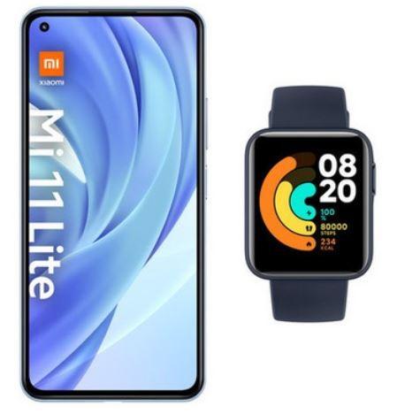 Xiaomi Smartphone Mi 11 Lite blau inkl. Xiaomi Watch Lite marineblau 6 GB +128 GB