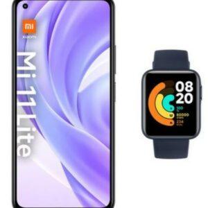 Xiaomi Smartphone Mi 11 Lite schwarz inkl. Xiaomi Watch Lite marineblau 6 GB + 128 GB