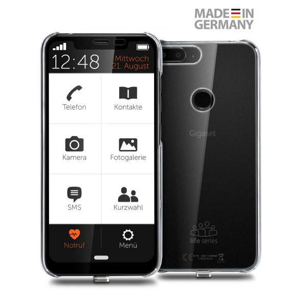 Gigaset Smartphone GS 195 LS 32 GB, schwarz