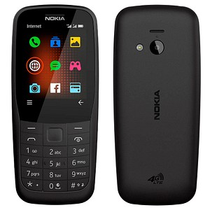 NOKIA 220 4G Dual-SIM-Handy schwarz