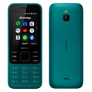 NOKIA 6300 4G Dual-SIM-Handy cyan