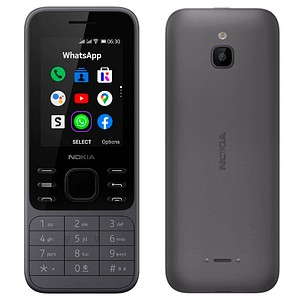 NOKIA 6300 4G Dual-SIM-Handy schwarz