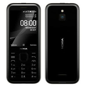 NOKIA 8000 4G Dual-SIM-Handy schwarz